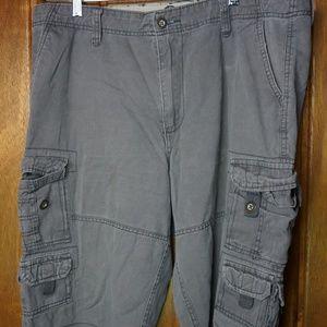 Plugg Mens Cargo Shorts Casual Regular Gray